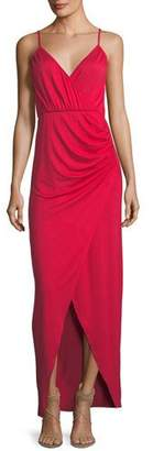 Rachel Pally Britta Spaghetti-Strap Surplice-Neck Cutaway Maxi Dress, Plus Size