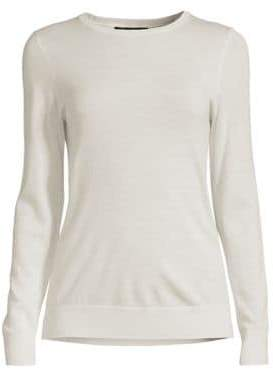 Lord & Taylor Essential Merino Wool Crewneck Sweater