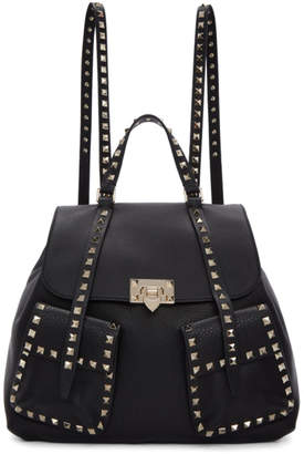 Valentino Black Garavani Rockstud Backpack