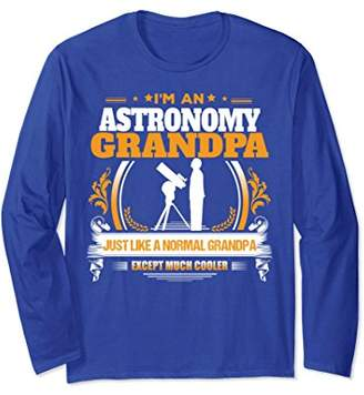 Funny Astronomy Grandpa Long Sleeve Christmas Gift for Grand