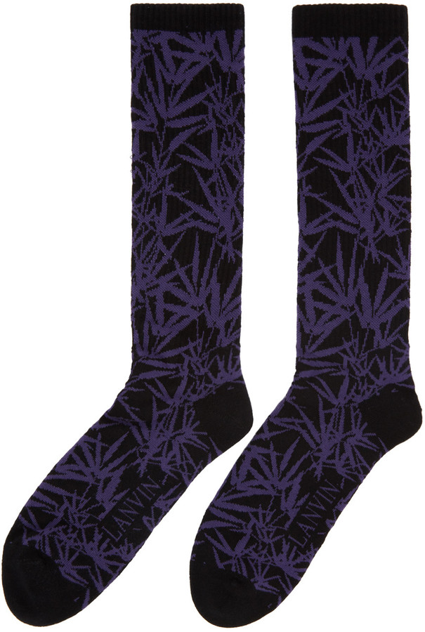 Lanvin Black Jacquard Socks 2