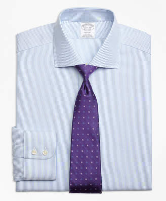 Brooks Brothers Regent Fitted Dress Shirt, Non-Iron Royal Oxford Candy Stripe