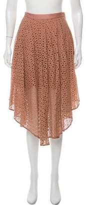 Tibi Eyelet Midi Skirt