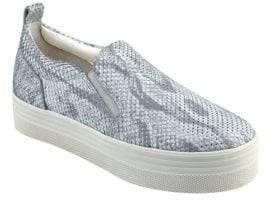 Marc Fisher Elise Snake Skin Print Slip-On Sneakers
