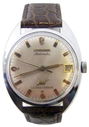 Longines Ultra-chron Chrome Plated Vintage Automatic 34.3mm Mens Watch