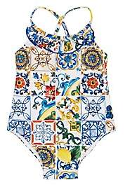 Dolce & Gabbana Infants' Majolica-Tile-Print One-Piece Swimsuit