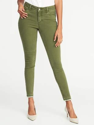 Old Navy Mid-Rise Raw-Hem Rockstar Ankle Jeans for Women