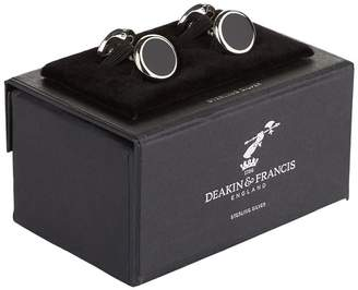 Deakin & Francis Onyx Inlay Cufflinks