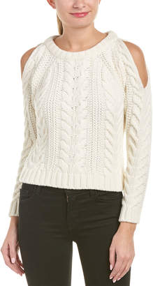 Anine Bing Cold-Shoulder Wool-Blend Sweater