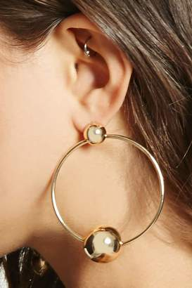 FOREVER 21+ Beaded Hoop Earrings $5.90 thestylecure.com