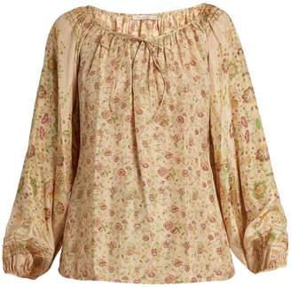 MES DEMOISELLES Pavane floral-print silk blouse $237 thestylecure.com