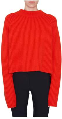 Proenza Schouler Red Crewneck Sweater With Slits