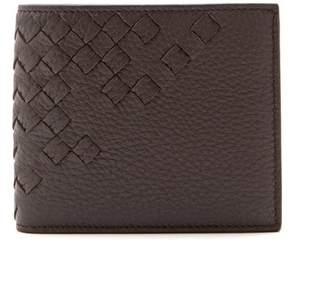 Bottega Veneta Brown Bi Fold Leather Wallet - Mens - Dark Brown