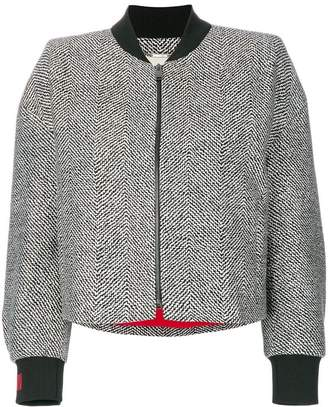 Fendi beaded tweed bomber jacket