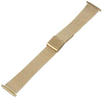 Hadley Roma MB3805Y 18-22mm Squeeze End Gold Tone Mens Watch Band Thin Mesh