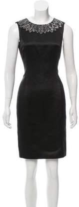 Jason Wu Silk Embellished Knee-Length Sheath Dress