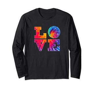 Volleyball Long Sleeve Shirt Tie Dye Love Teen Girls