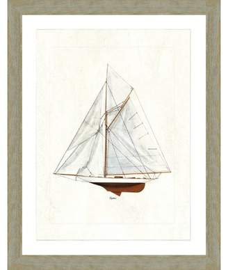 Breakwater Bay 'Sailboat I' Framed Graphic Art Print