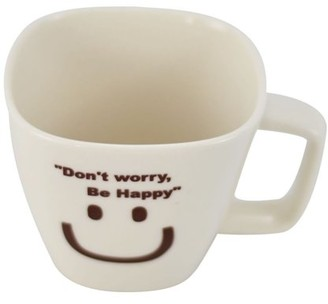 Southern Homewares Don't Worry, Be Happy Ceramic Tea Cup Face 04