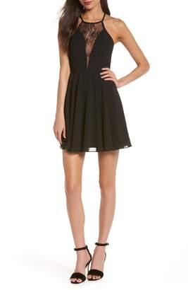 LuLu*s Halter Neck Skater Minidress