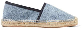 Isabel Marant Canaee Leather-trimmed Denim Espadrilles