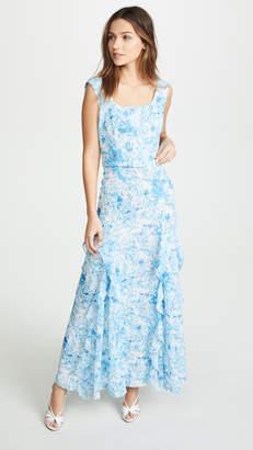 Costarellos Floral Ruffle Dress