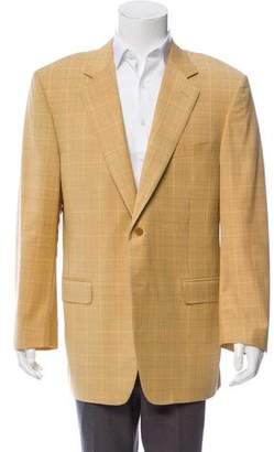 Canali Plaid Virgin Wool Blazer
