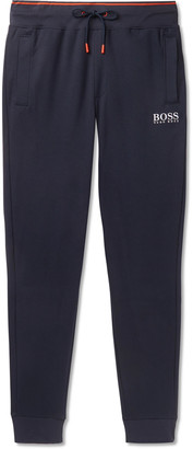 HUGO BOSS Slim-Fit Tapered Cotton-Jersey Sweatpants