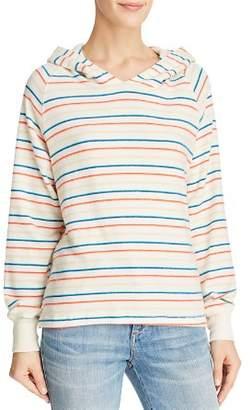LnA Rainbow-Stripe Hooded Sweatshirt