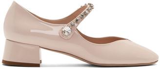 Miu Miu Pink Ballerina Mary Jane Heels