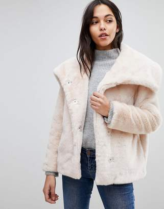 Asos DESIGN Faux Fur Collar Jacket