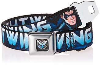 Buckle-Down Men's Seatbelt Belt Nightwing Kids