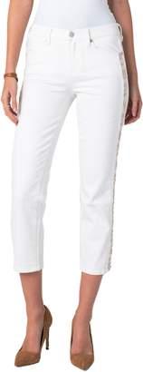 Liverpool Sadie Side Stripe Crop Straight Leg Jeans