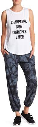 Betsey Johnson Foldover Waist Tie Dye Pant $64 thestylecure.com