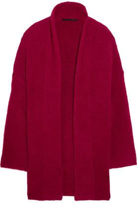 Haider Ackermann - Oversized Mohair-blend Cardigan - Crimson $1,070 thestylecure.com