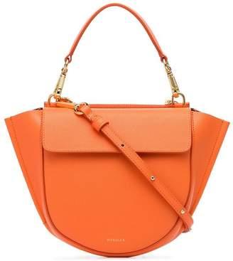 Hortensia Wandler Orange Mini leather shoulder bag