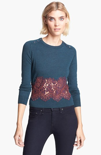 Carven Needle Lace & Knit Pullover