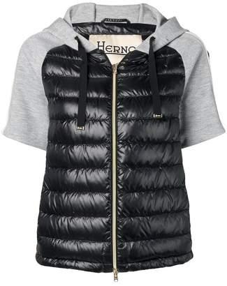 Herno short sleeved padded jacket