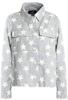 Line Printed Cotton Jacket