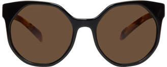Prada Black Octagonal Sunglasses