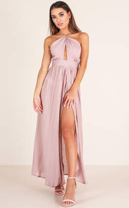 Showpo Love This City maxi dress in mauve - 10 (M) Wedding Guest