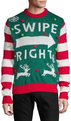 "American Stitch Swipe Right"" Christmas Sweater"