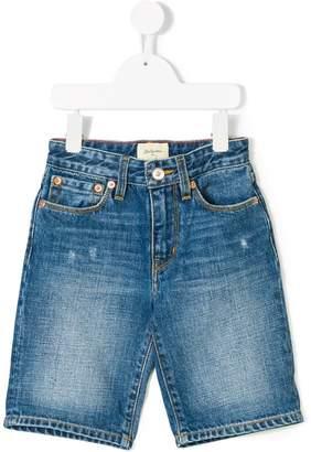 Bellerose Kids distressed denim shorts
