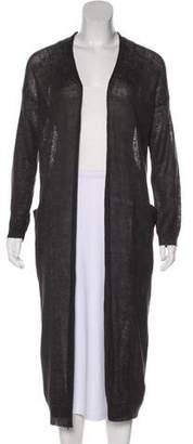 Demy Lee Linen Knit Long Sleeve Cardigan