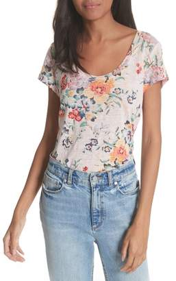 Rebecca Taylor Marlena Floral Linen Tee