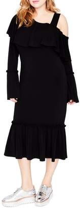 Rachel Roy Cold Shoulder Ruffle Dress