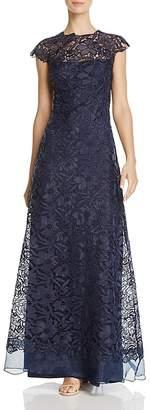 Tadashi Shoji Illusion-Neck Lace Gown $548 thestylecure.com