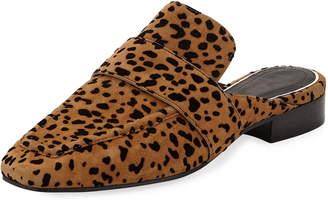 Rag & Bone Aslen Cheetah-Print Suede Loafer Mules