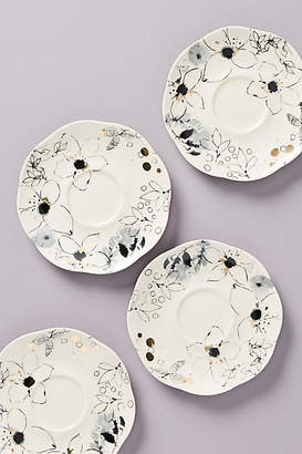 Ralph Lauren Wan Floral Vine Bread Plates, Set of 4