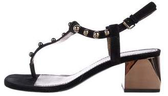 Lanvin Studded T-Strap Sandals